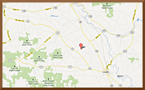 Map of Lowlands Whitetails Hunting Ranch